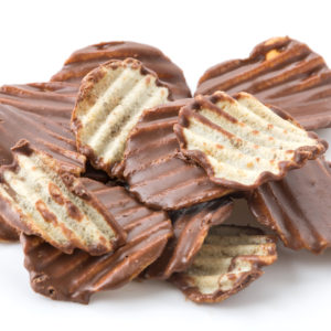 Milk chocolate dipped potato chips 4oz