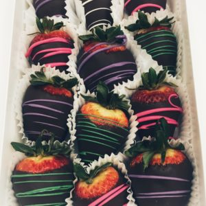 Spring assorted gourmet chocolate dipped strawberries